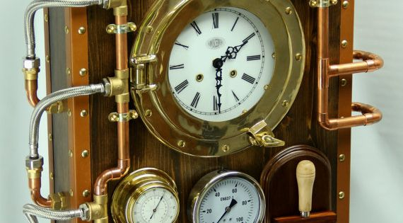 Wall Clock Berniscervera Industrial Steampunk Old And