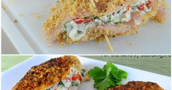 Spinach, Crusted chicken and Tomatoes on Pinterest