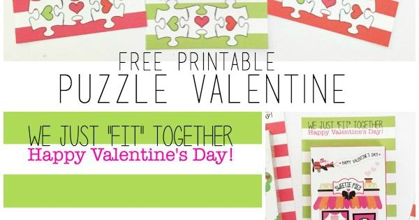 Valentine's Day idea - Free Printable Puzzle Valentines by U Create