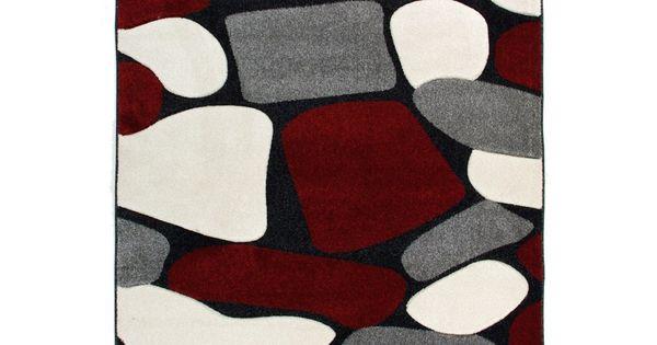 Vloerkleden rood grijs beige zwart loerkleed canyon dit vloerkleed is gebaseerd op de steppe de - Kamer in rood en grijs ...