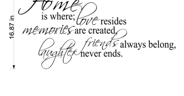 Home Is Where Love Resides Giant Wall Decal