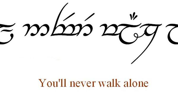 Elvish Script Tattoo From Lord Of The Rings You 39 Ll Never