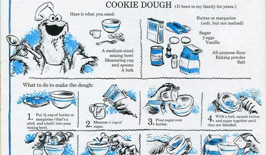 : Cookie Monster's Famous Sugar Cookie Dough Recipe | Cookie Monster ...