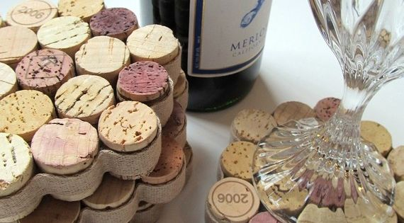 Honey Comb Wine Drink Coasters | DIY Wine Cork Crafts | Easy