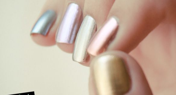 essie heavy metal nail polish colors. Splashes of Metallic colors are in