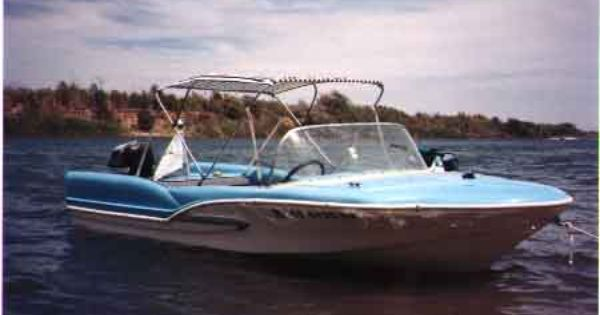 1957 Glastron Fireflite boat with fins! | Boats ...