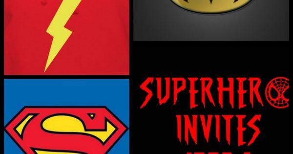 superhero birthday party invitation ideas   Luhan ...