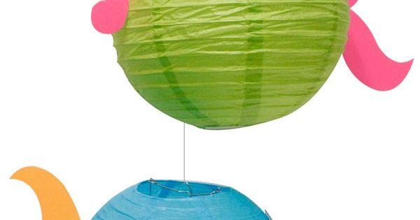 Paper Lantern fish. Summer party ideas
