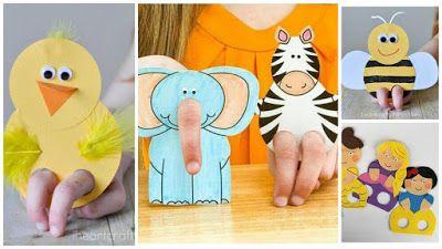 8 Moldes Para Hacer Hermosos Títeres De Papel Con Niños Solountip Com Titeres De Dedo Moldes Titeres De Animales Titeres De Papel