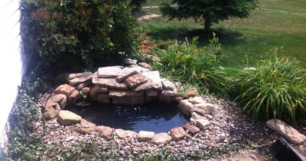 Pond Idea Get A Liner From Home Depot Or Lowes 60 Find Some Rocks From A Landscaping Company