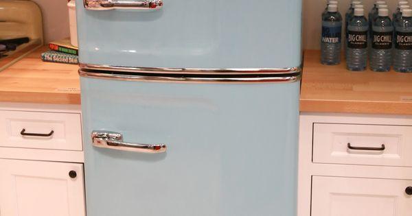 Slim Fridge Retro fridge American kitchen and Retro