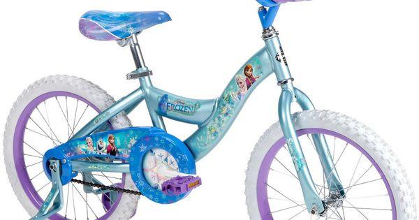 Huffy disney 18 inch frozen girls bike bicycle wheels kids blue anna