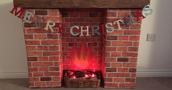 Fake Fireplace Ideas Diy Cardboard
