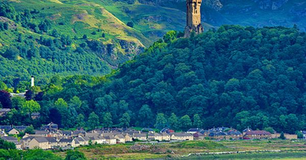 The National Wallace Monument Rising Above Stirling, Scotland - Loved Stirling Castle.