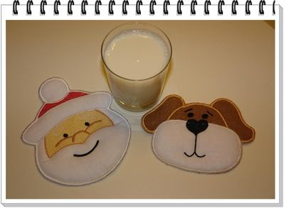 Ith Dog And Santa Mug Rug Lique