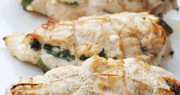 Spinach, feta, sun dried tomato stuffed chicken breasts