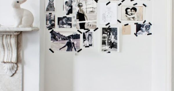 Washi tape photo wall Photography: François Kong | Styling: Karine Kong