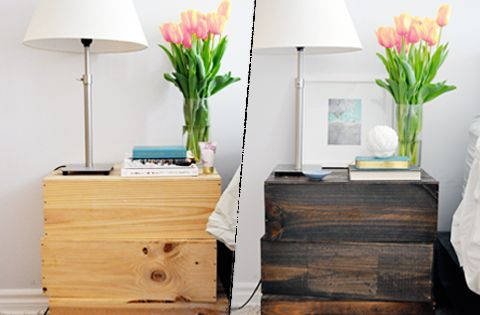 This nightstand idea is cheap and adorable!