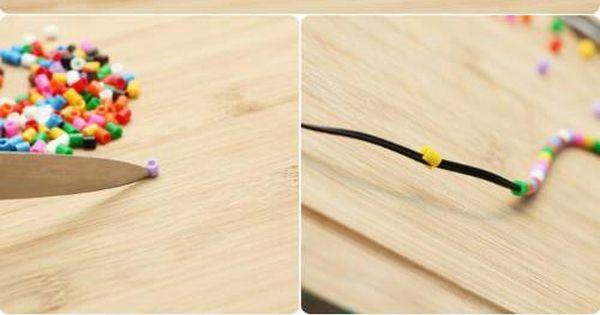 Kopfhörerkabel verschönern! Einfach bügelperlen mit einem ...