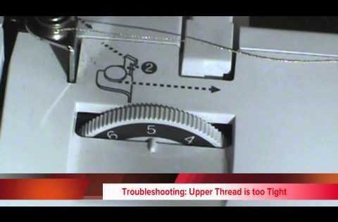 how to adjust the thread tension the brother se400 sewing machine