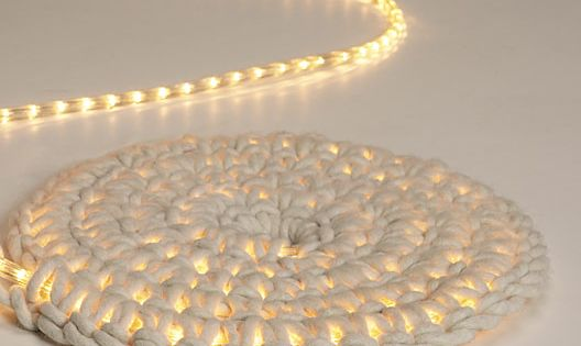 3 easy rug hacks you'll wanna try: Work rope lights into a