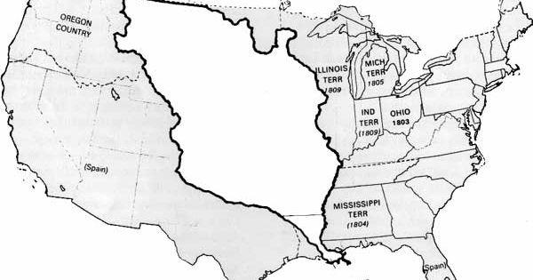 Louisiana Territory Map Louisiana Purchase 1803