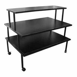 3 Tier Rolling Display Table Rolling Table Retail Fixtures Table