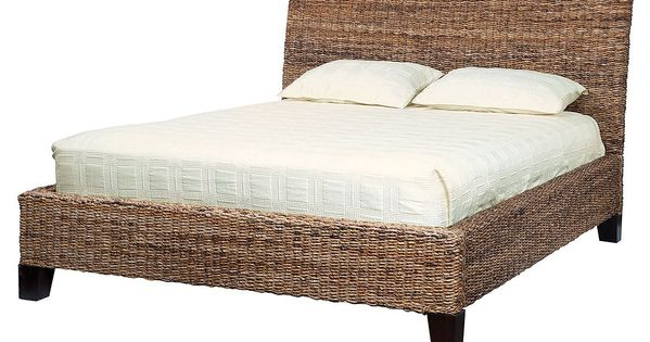 Lanai Banana Leaf Woven Queen Bed Banana Leaves Wicker Bedroom Furniture And Wicker Bedroom