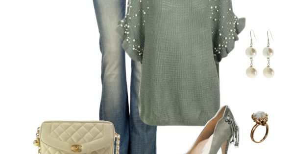 """Mint Pearl"" by kaseyofthefields on Polyvore. I like these colors, the ring,"