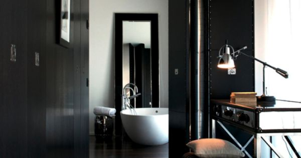 Inspiratie beeld zwart wit interieur black and white home interior black white for Deco toilet zwart en wit