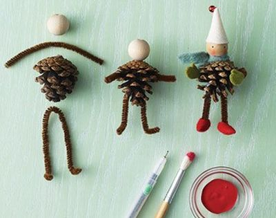 #DIY Christmas ornaments. Pinecone Elves easy for kids