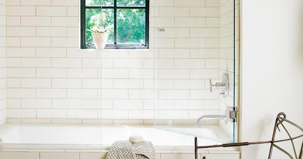 white subway tile, black window, oriental modern bathroom design bathroom design ideas