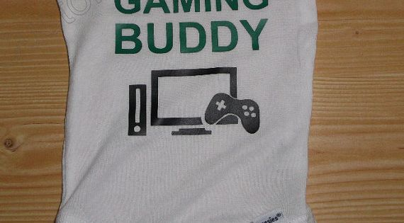 Future Gaming Buddy Custom Onesie. Great gift for that new dad, or