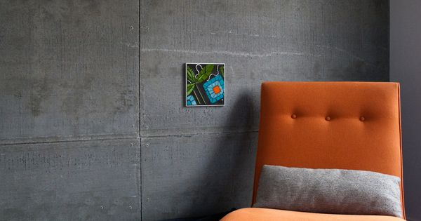 My Cement Board Wall Chaise Bloom Living Spaces Pinterest Cement Walls And Bath
