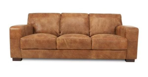 Caesar 3 Seater Sofa Outback Dfs Seater Sofa Brown Leather Couch Sofa