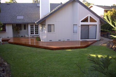 Low Profile Redwood Deck Yelp Backyard Plan Redwood Decking Backyard