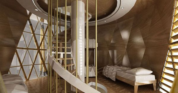 Interior Shot Of The Towering Vertical Bamboo House By Saint Val