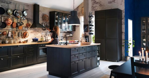 ikea laxarby cuisine pinterest vier noir ikea et amenagement cuisine. Black Bedroom Furniture Sets. Home Design Ideas