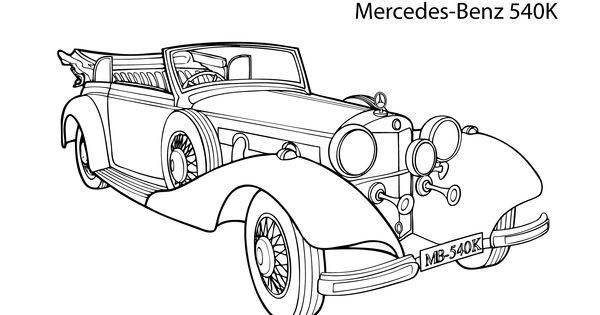 Super Car Mercedes Benz 540k Coloring Page Cool Car