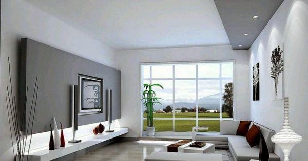 Schlicht Gehaltenes Wohnzimmer In Weiss Und Grau