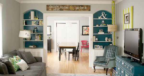 Gray Teal And Lime Living Room Home Decor Pinterest