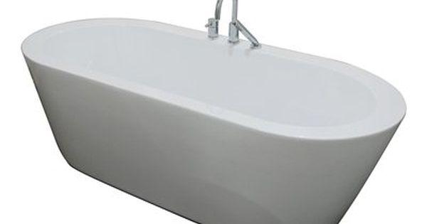 A E Bath And Shower Una 71 In Glossy White Freestanding Bathtub Bathtub Soaking Bathtubs Bathtub Bathtub Storage