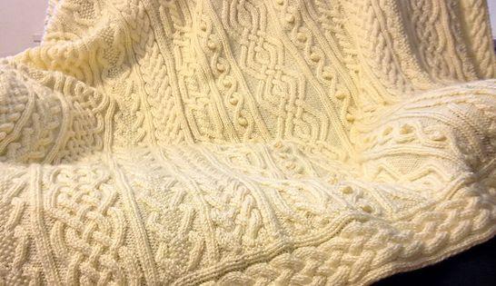 Knitting Pattern: Twisty Celtic Aran Afghan, Fisherman, Cables Afghan patte...