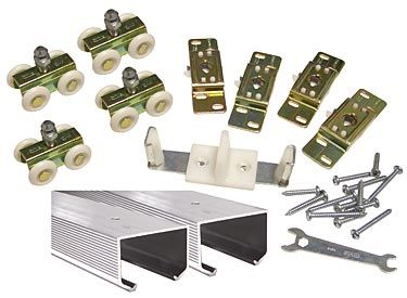 Stanley Dormakaba Usa Inc Bpc150n 00 96 Stanley 40 5668 96 2438mm Bypass Track Set 150lb Aluminum The Hardware Hut Barn Door Hardware Barn Door Sliding Barn Door Hardware