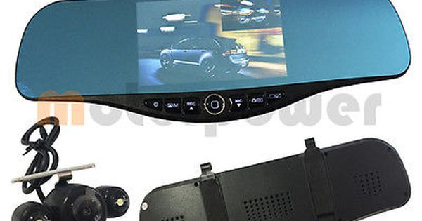 5 1080P Full HD Blue Tint Front Back Up Camera Recorder Mp30 Rearview Mirror