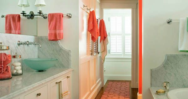 Bathroom Design Bath Accessories Sea Foam And Coral Color