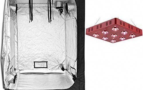 Bloomgrow Led1800w Grow Light 60 X60 X80 High Reflective Mylar Grow Tent For Indoor Hydroponic Growing System Kits Hydroponic Growing Hydroponics Grow Tent