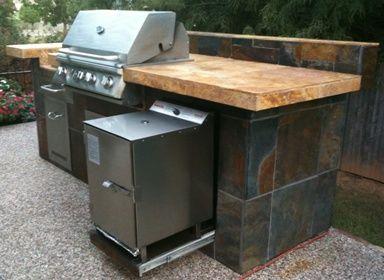 Smokintex Electric Smoker Built In Slideout Outdoor Kitchen Outdoor Kitchen Appliances Outdoor Kitchen Design