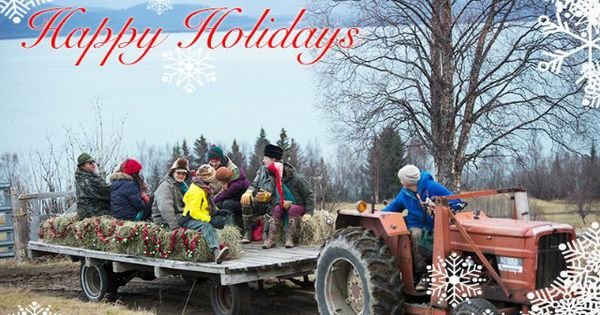 Christmas hayride on alaska the last frontier