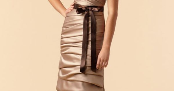 dropped waist bridesmaid gowns. could totally work as a wedding dress.